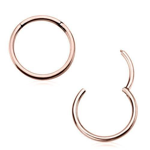 Rose Gold Plated Surgical Stainless Steel Seamless Clicker Ring - 1 Piece
