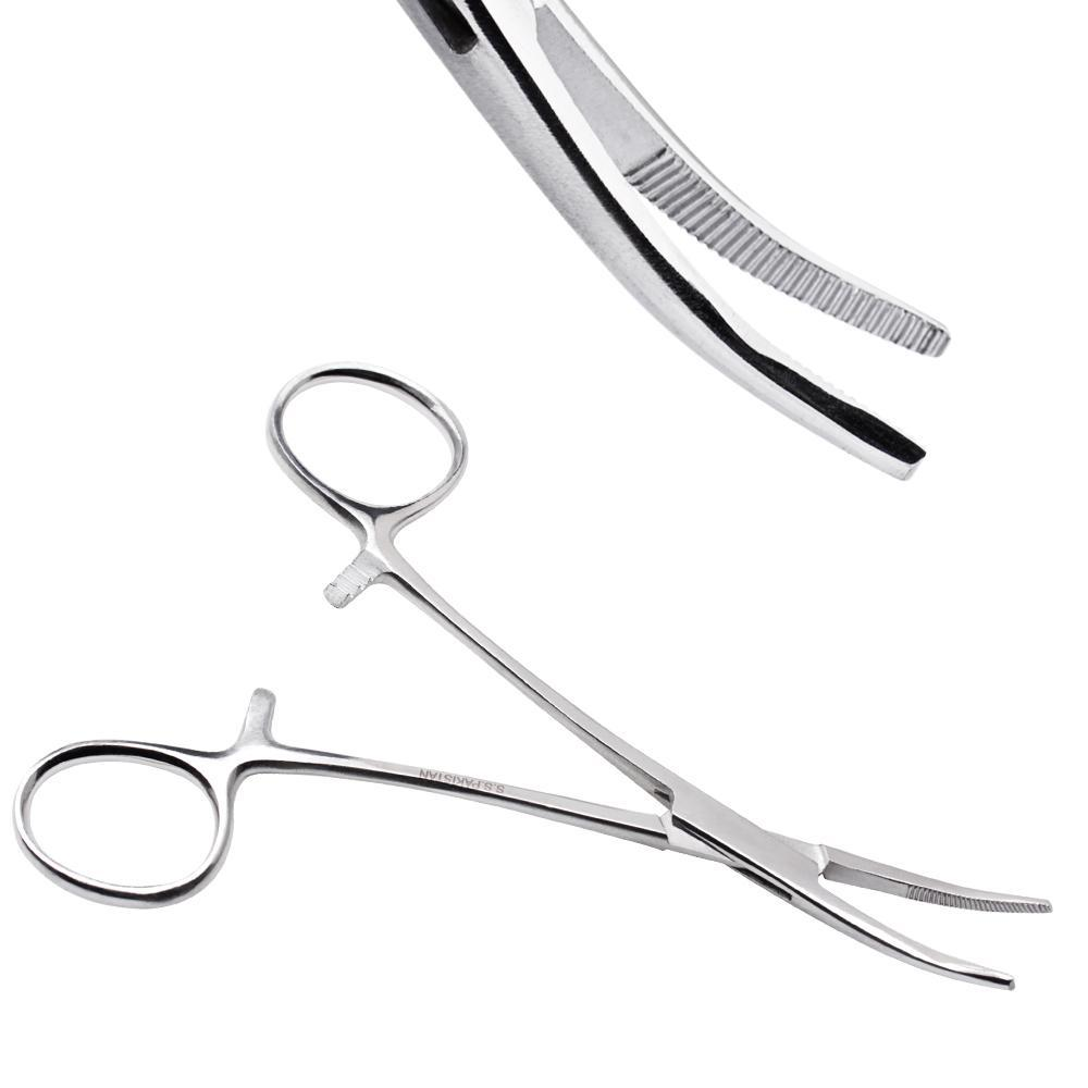 Tools Surgical Steel Hemostat Curved Tip Forceps -Rebel Bod-RebelBod