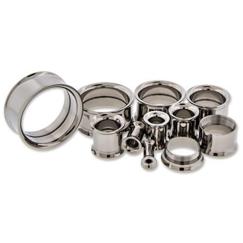 Titanium Internally Threaded Double Flare Tunnels - 1 Piece