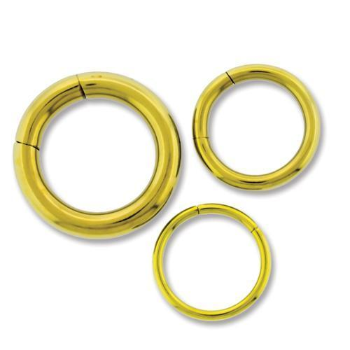 Yellow Astm Titanium Segment Ring 10G-14G - 1 Piece #SPLT#