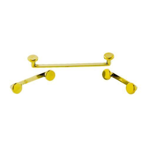 Yellow Flat High Polished Titanium Surface Barbell Internally Threaded 14G 90 Angle 4mm Plain Disc 2mm Rise - 1 Piece