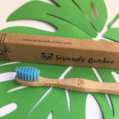 Bamboo Toothbrush for Kids | Blue