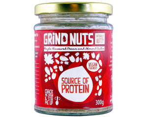 Grindnuts - Maple Flavoured Pecan and Almond Butter - Foodsake