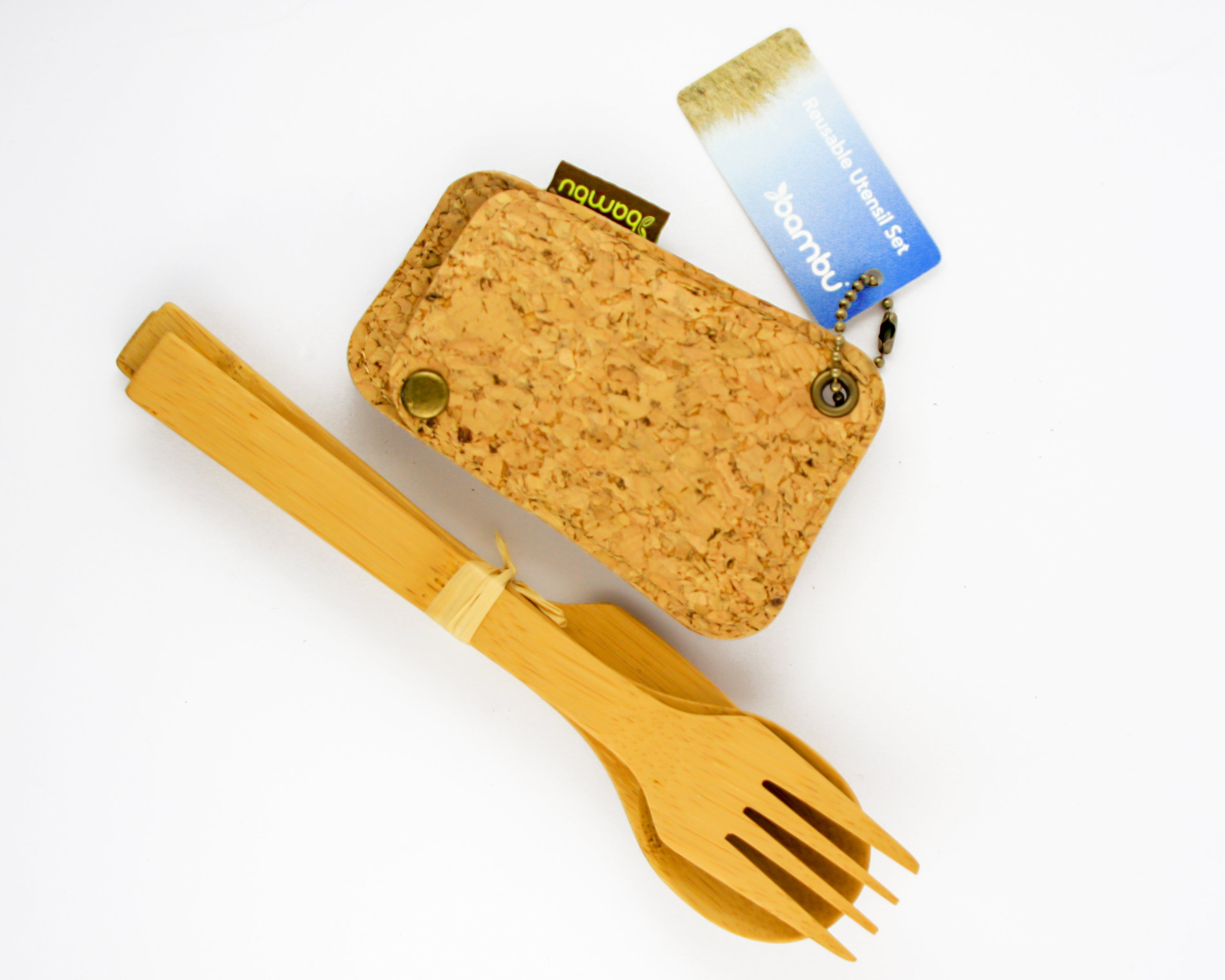 NADA - Utensil Set with Cork Pouch - Foodsake