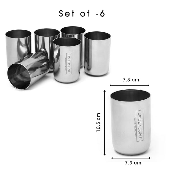 Stainless Steel Tumbler - Set of 6 - The Spice People