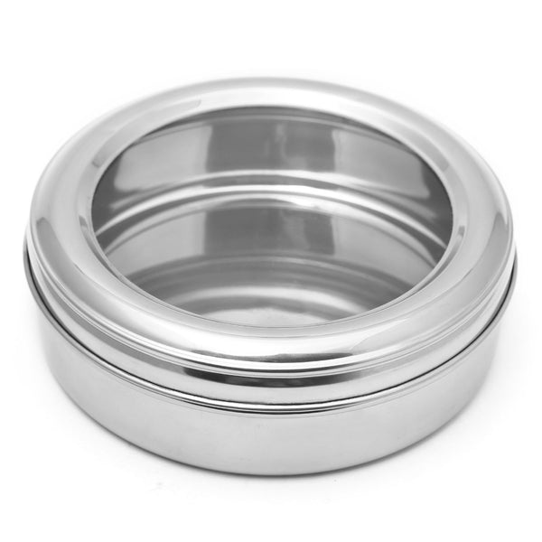 Stainless Steel Storage Box with See Through Lid - Cookies Box - Multi Purpose