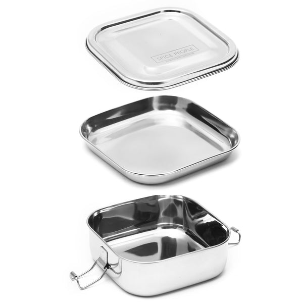 Stainless Steel Bento Boxes - Square - The Spice People