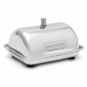Stainless Steel Butter Dish with Lid - metal butter dish
