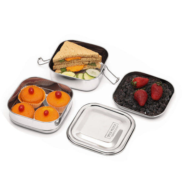 Bento Lunch Box Stainless Steel Snacks Container The Spice People