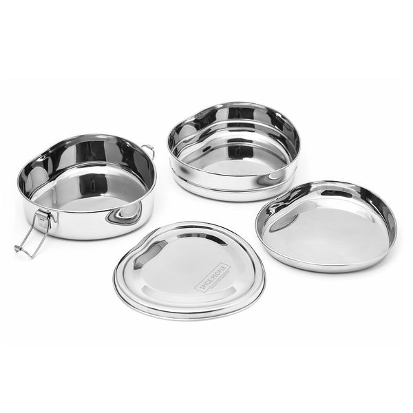Heart Shape Tiffin Box - Stainless Steel Lunch Box - The Spice People