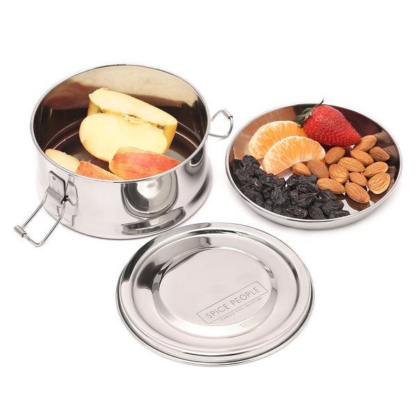 Stainless Steel Plate Lock Tiffin Box and Storage Container Lunch Box