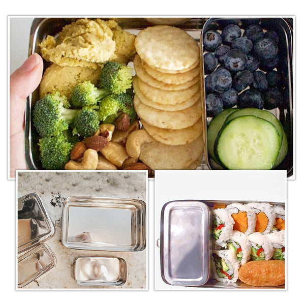 Stainless Steel Rectangular Bento Lunch Box With Inside Container