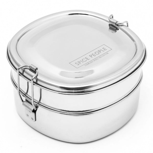 Stainless Steel Lunch Box - Double Decor Bento Tiffin Box - Chakra