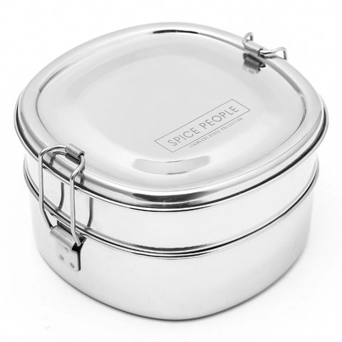 stainless steel lunch box with compartments