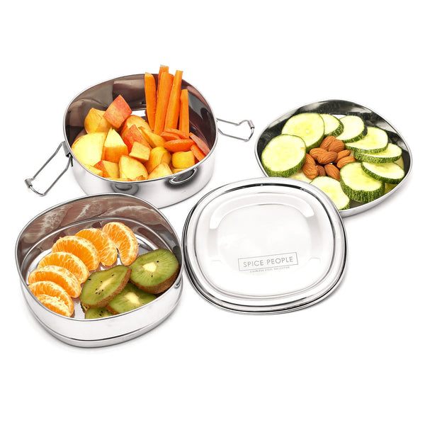 Stainless Steel Lunch Box with Compartments - Chakra