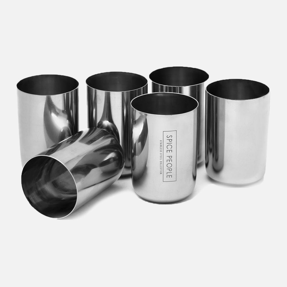 Stainless Steel Drinking Glass, Set of 6