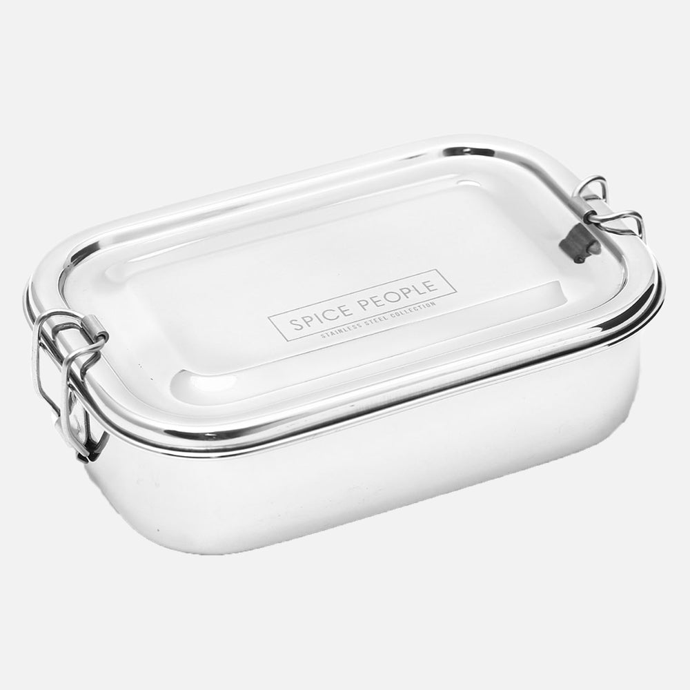 Rectangle Bento Box Steel - The Spice People