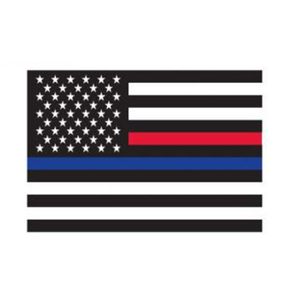 Rothco Thin Blue Line & Thin Red Line Flag Decal