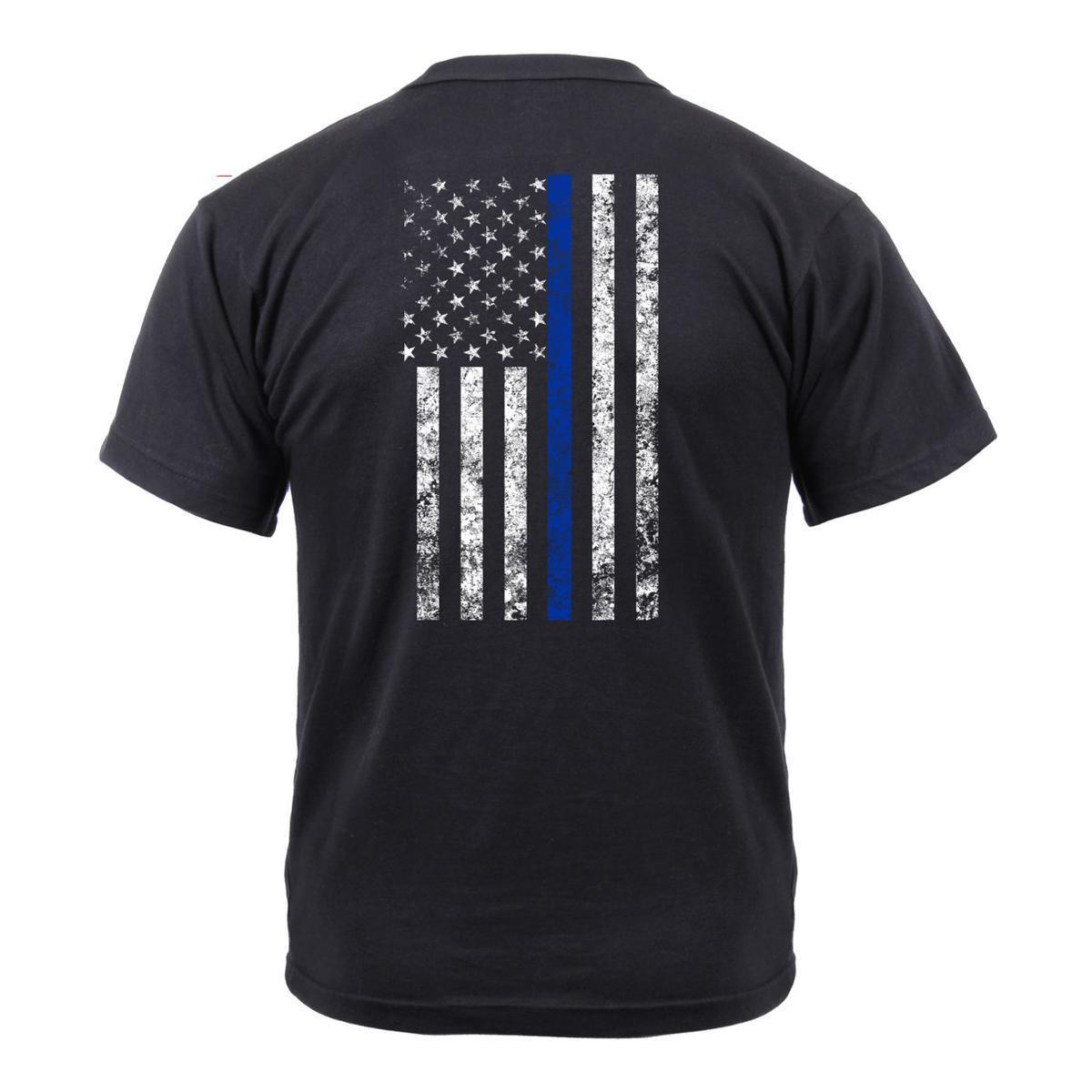 Thin Blue Line T-Shirt With Front Shield
