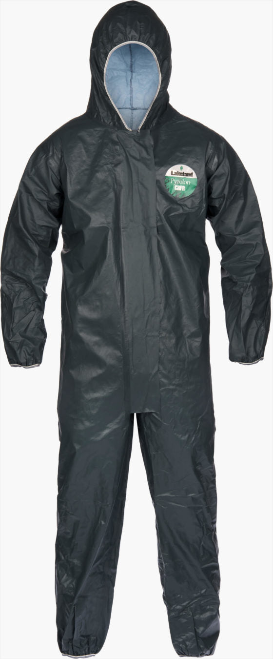 Pyrolon CRFR Coverall-Hood, Elastic Wrist/Ankle by Lakeland Industries