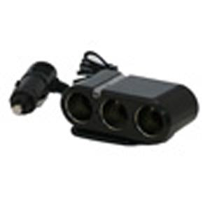 Three Port Cigarette Lighter Adapter / Splitter