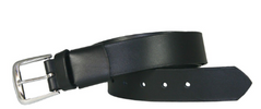 "Boston Leather 1-1/2"" Stretch Off Duty Leather Belt"