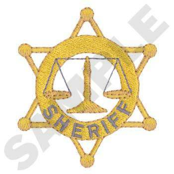 Sheriff Badge Embroidery
