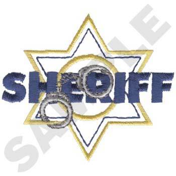 Sheriff Badge Embriodery