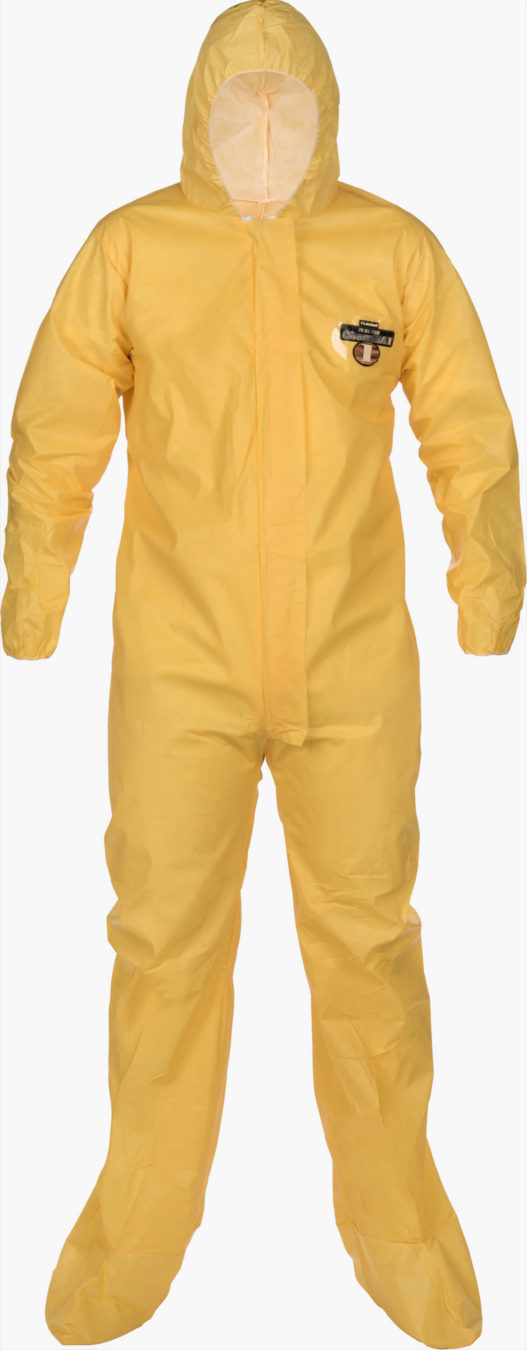 ChemMax 1 Serged Seam Coverall - Hood/Boots by Lakeland Industries