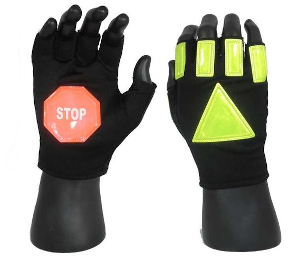 24/7 Reflective Traffic Gloves with Stop Sign