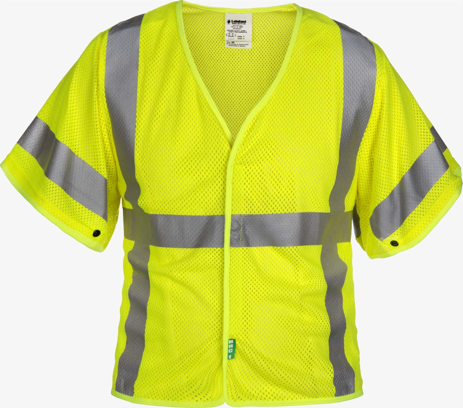 Class 3 Mesh FR Modacrylic High-Vis Sleeved Vest By Lakeland Industries