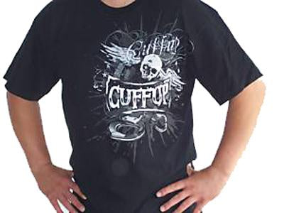 Winged Skull Head CuffUp Shirt