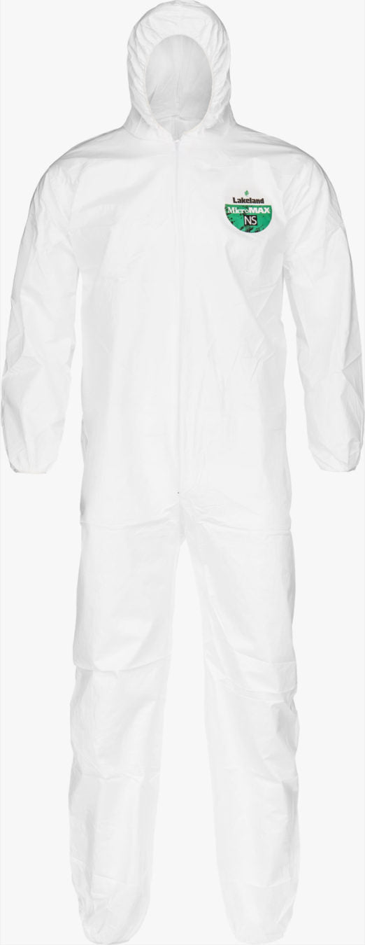 MicroMax NS Coverall - Hood, Elastic Wrist/Andlke by Lakland Industries