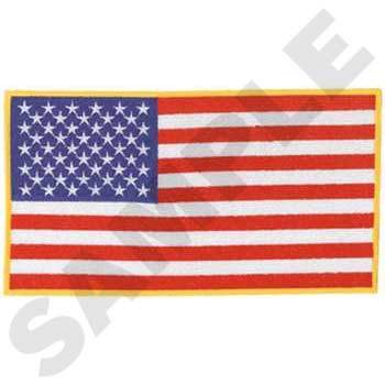 USA Flag Large Embroidery