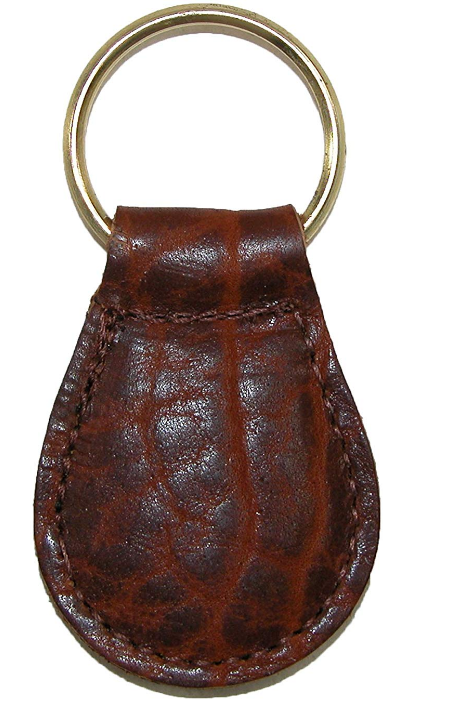 Boston Leather Textured Bison Leather Tear Drop Key Fob