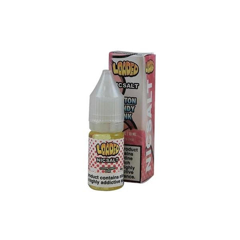 10mg Loaded Nic Salt 10ml (50VG/50PG) - Loaded Cotton Candy - Loaded Glazed Donuts - Loaded Cookie Butter - Smores - Chocolate Glazed - Strawberry Jelly Donut - Raspberry Eclair - Cran Apple Juice