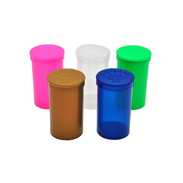 225 x 19 Dram Pop Top Storage Bottles - Mixed Colours - secondvape