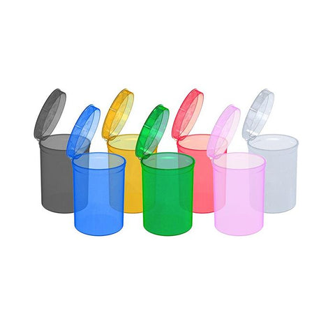 160 x 30 Dram Pop Top Storage Bottles - Mixed Colours - secondvape