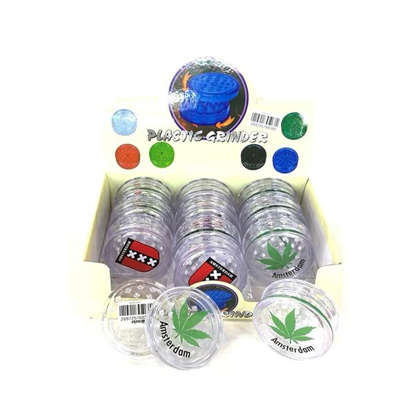 12 x 2 Parts 4Smoke Plastic Grinder - HX033A - secondvape