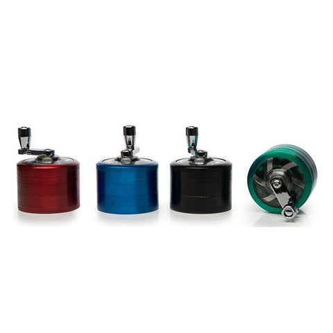 4 Parts Metal Mixed Colour Grinder - HX057SY-4 - secondvape