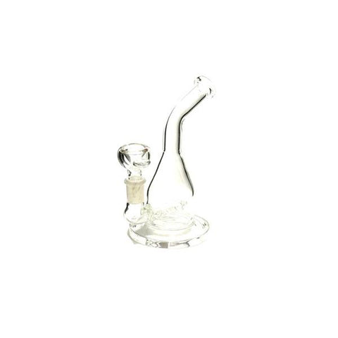 6 x 7'' Beaker Style Clear Glass Bong - WP-61 - secondvape