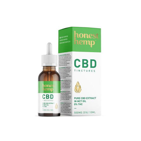 Honest Hemp 500MG 10ml Pure CBD Extract in MCT Oil - secondvape