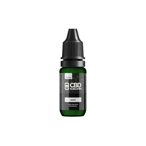 CBD Asylum 1000mg CBD E-liquid Unflavoured Shot 10ml (BUY 1 GET 1 FREE)