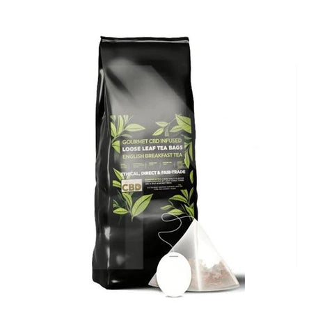 Equilibrium CBD Gourmet Loose Leaf Tea Bags - English Breakfast Tea