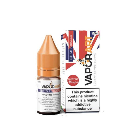 Vaporart 14mg 10ml E-Liquids - British Tobacco - Dry Tobacco - Malby - Maxx Tobacco - Old West Tobacco - Regular - RY4 - Texas Blend - Tobacco Gold - Tuscan Havana - Virgina - West Virgina