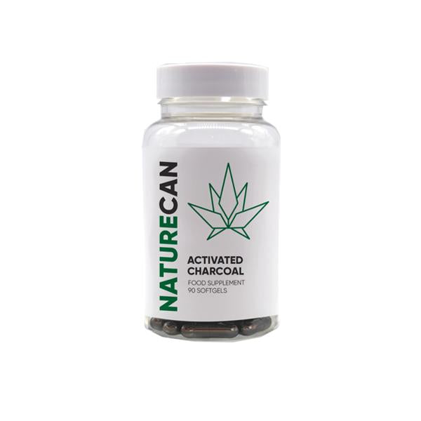 Naturecan 1000mg CBD Activated Charcoal Capsules - 90 Caps - Default Title