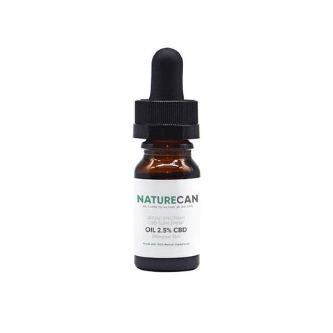 Naturecan 2.5% 250mg CBD Broad Spectrum MCT Oil 10ml