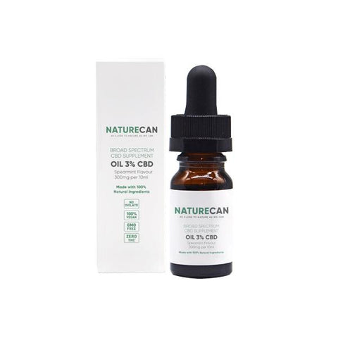 Naturecan 3% 300mg CBD Spearmint Broad Spectrum MCT Oil 10ml