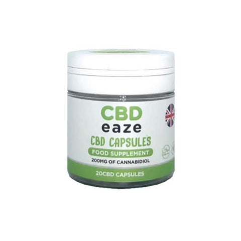 CBD Eaze Full Spectrum 200mg CBD Capsules - secondvape