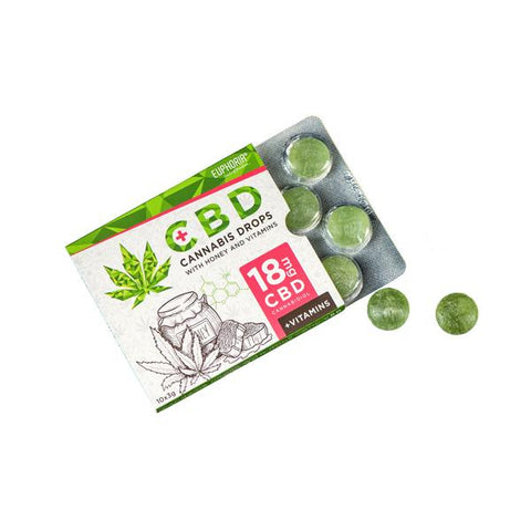 Euphoria 18mg CBD Cannabis Drops with Honey and Vitamins